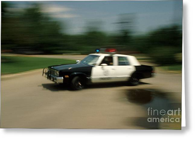 Police Car Greeting Cards - Police Car Greeting Card by Jerry McElroy