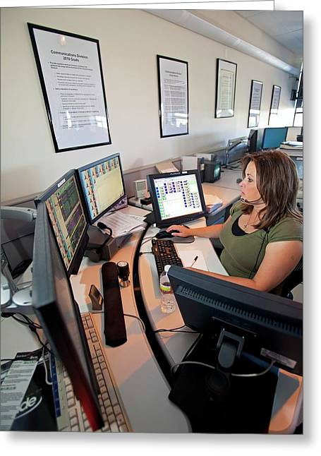 Police Dispatcher Greeting Card by Jim West