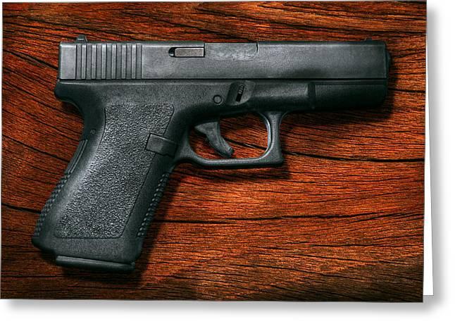 Police - Gun - The modern gun  Greeting Card by Mike Savad