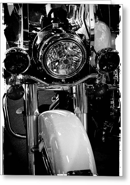 Police Cruiser Greeting Cards - Police Harley II Greeting Card by David Patterson