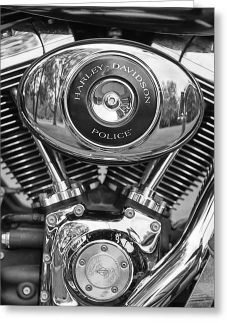 Police Motorcycles Greeting Cards - Police Greeting Card by Thomas Young
