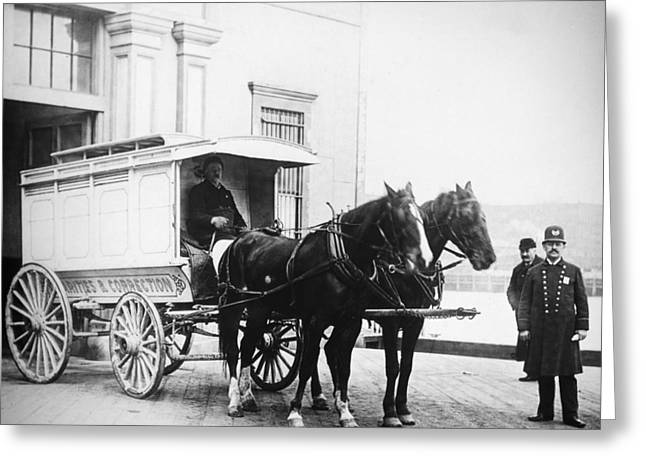 Police Wagon, C1900 Greeting Card by Granger