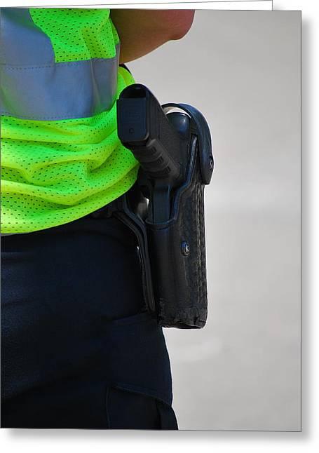 Policewoman. Greeting Card by Oscar Williams