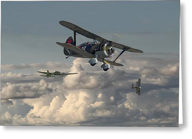 Polikarpov - I15 Bis Greeting Card by Pat Speirs