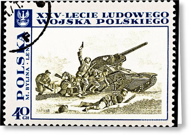 Polish Culture Greeting Cards - Polish Army Assaulting during World War II  Greeting Card by Jim Pruitt