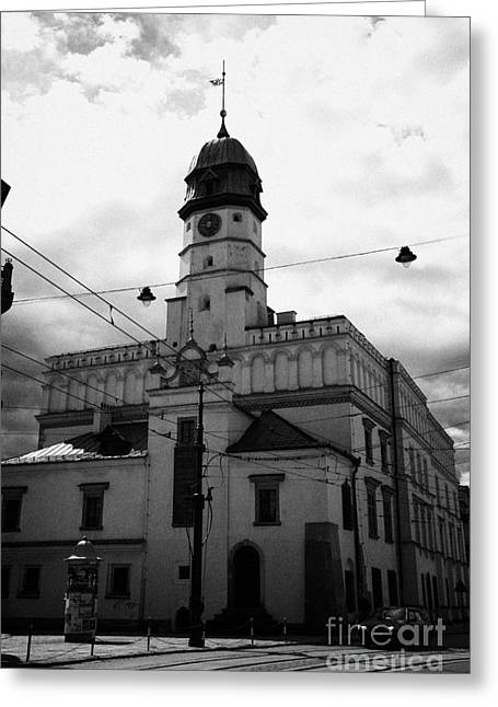 Polish City Greeting Cards - Polish Ethnographic Ethnography Museum Krakow Former 15th Century Town Hall And 16th Century Renaissance Building Greeting Card by Joe Fox