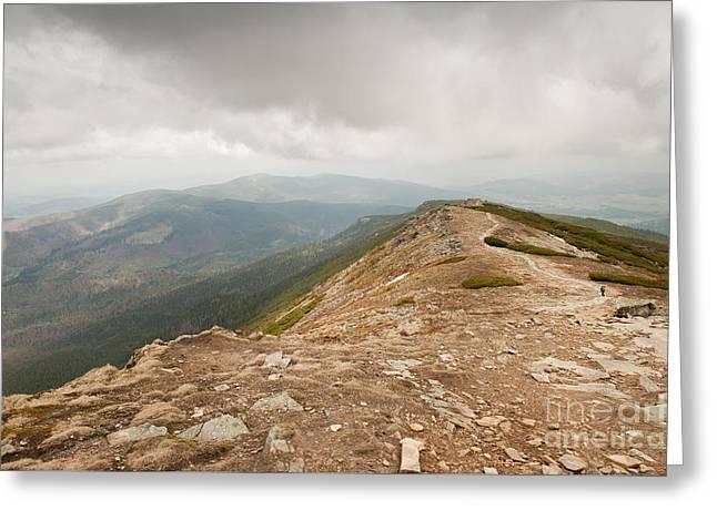 Polish Mountains Expanse View Greeting Card by Arletta Cwalina