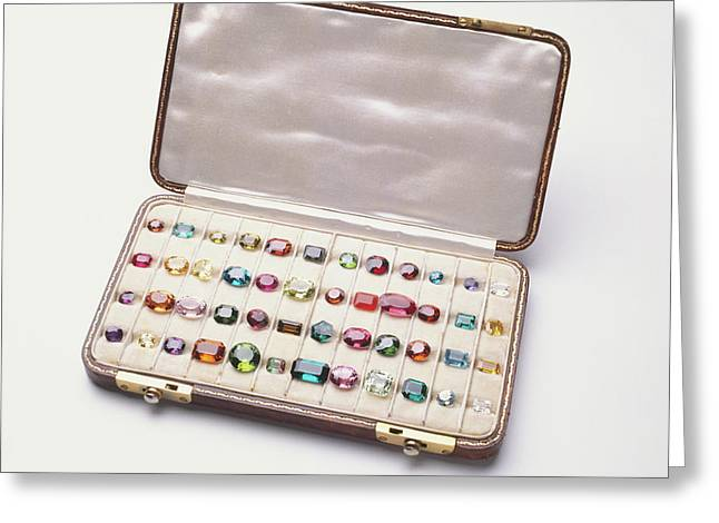 Polished Gemstones Greeting Card by Dorling Kindersley/uig