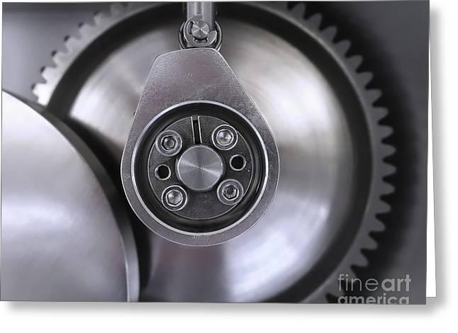 Rotate Greeting Cards - Polished Steel Machine Detail Greeting Card by Yali Shi