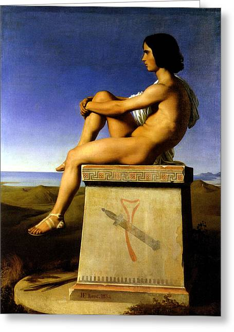 Flandrin Greeting Cards - Polites Greeting Card by Hippolyte Flandrin