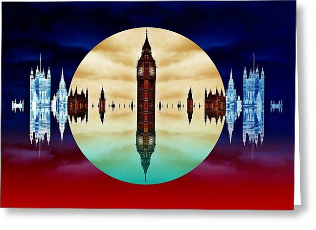 Politics Prints Digital Art Greeting Cards - Political colors Greeting Card by Sharon Lisa Clarke