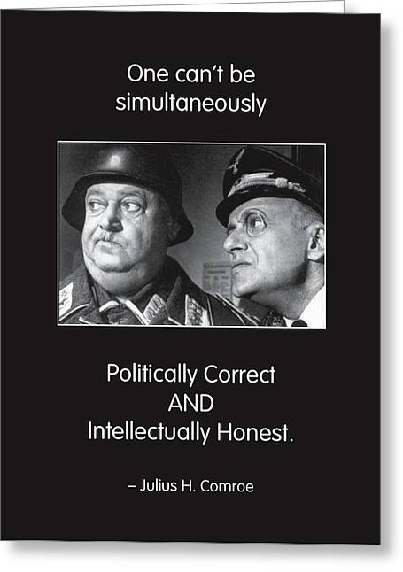 Sensitivity Greeting Cards - Political Correctness Greeting Card by Mike Flynn