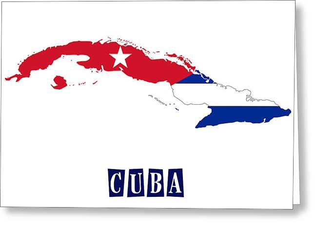 Division Paintings Greeting Cards - Political map of Cuba Greeting Card by Celestial Images