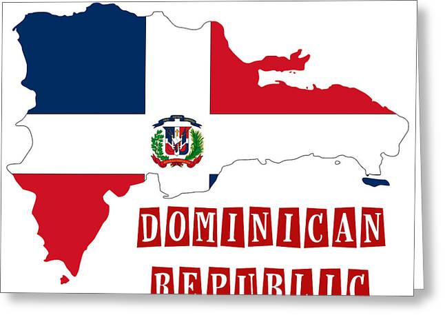Division Paintings Greeting Cards - Political map of Dominican Republic Greeting Card by Celestial Images