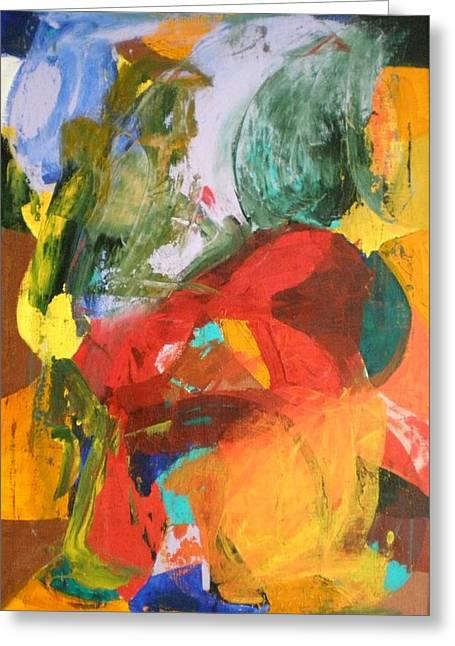 Dance Floor Paintings Greeting Cards - Polka Greeting Card by Ed Ciolina