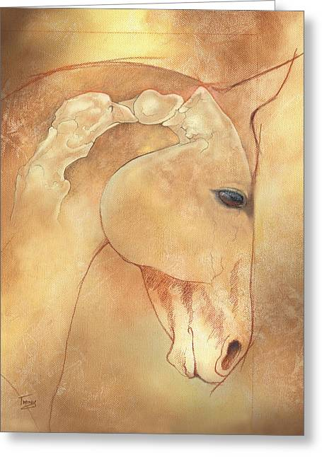Horse Greeting Cards - Poll Meet Atlas Axis Greeting Card by Catherine Twomey