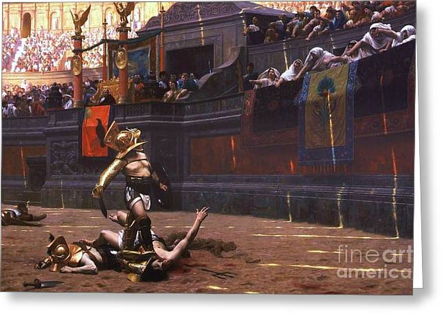 Pollice Verso Greeting Card by Pg Reproductions