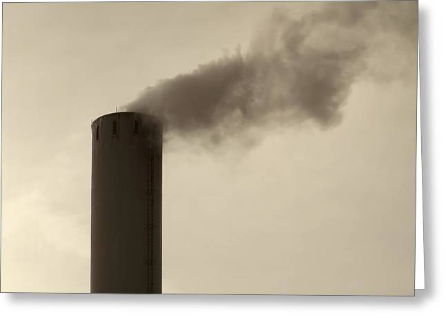 Decor Photography Greeting Cards - Pollution Greeting Card by Wim Lanclus