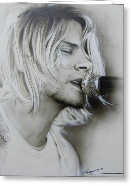 Kurt Cobain - ' Polly ' Greeting Card by Christian Chapman Art