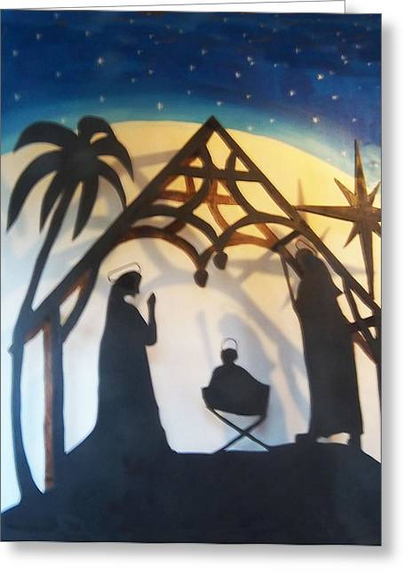 Jesus Reliefs Greeting Cards - Pollysnativity Greeting Card by Gordon Wendling