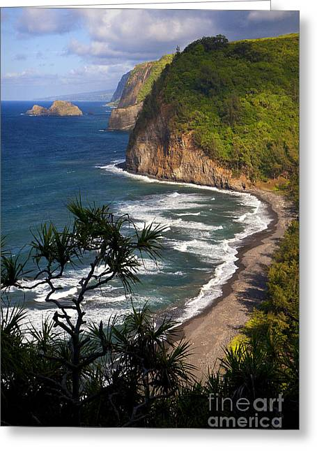 Hamakua Greeting Cards - Pololu Greeting Card by Aaron Whittemore