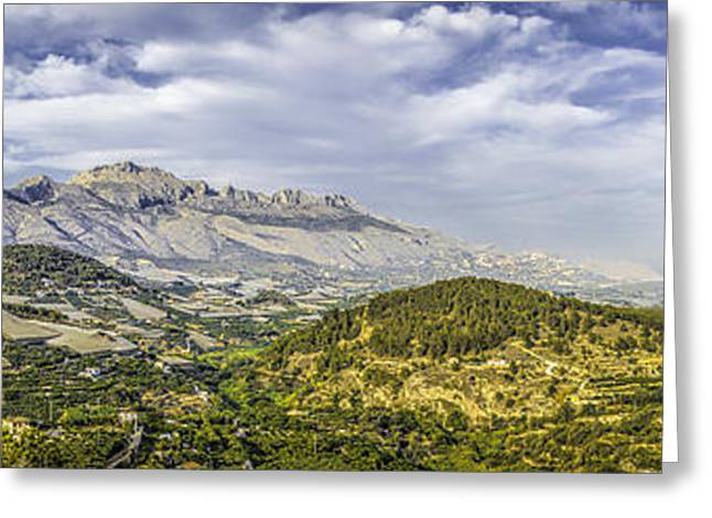 Costa Greeting Cards - Polop Panorama Greeting Card by Erik Brede