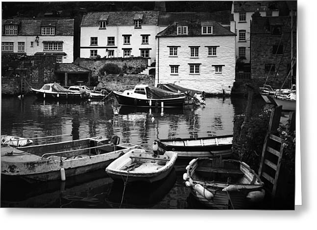 Finr Art Greeting Cards - Polperro at Rest Greeting Card by Steve and Jenni Thorp
