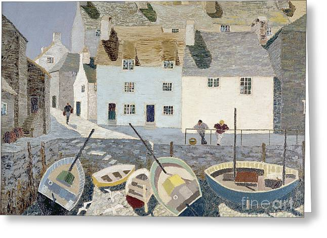 Discussing Greeting Cards - Polperro Greeting Card by Eric Hains