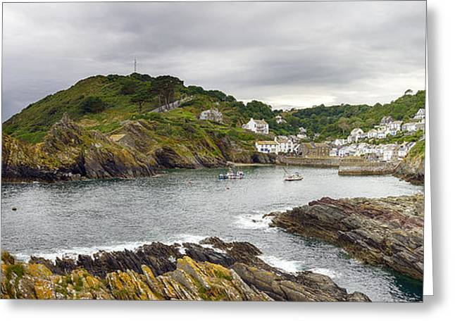 Kernow Greeting Cards - Polperro Greeting Card by Helen Hotson
