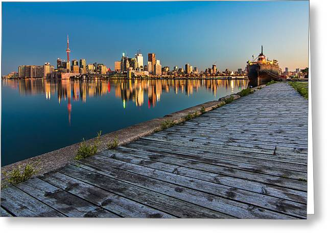 Hdr Landscape Greeting Cards - Polson Street Pier Greeting Card by James Wheeler