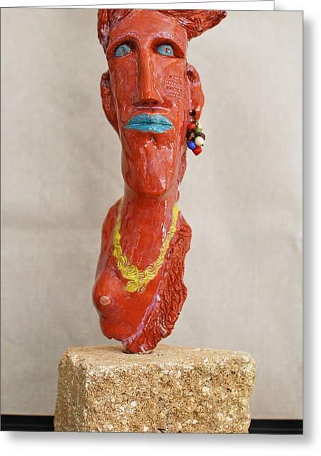 Portraits Ceramics Greeting Cards - No Boundaries Greeting Card by Art Mantia