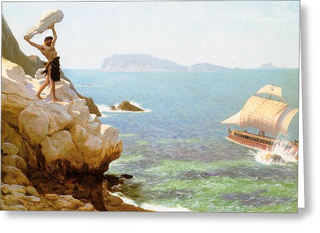 Gerome Greeting Cards - Polyphemus Greeting Card by Jean-Leon Gerome