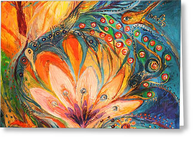 Polyptich part I - Water Greeting Card by Elena Kotliarker