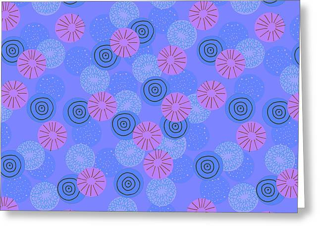 Patterns Paintings Greeting Cards - Pom Pom Greeting Card by Laurence Lavallee