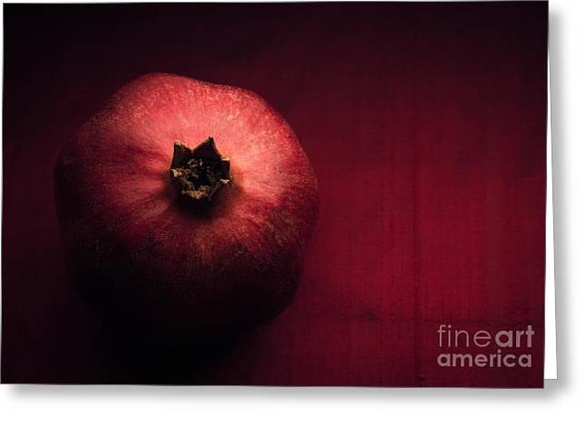 Pomegranate Greeting Cards - Pomegranate Greeting Card by Ana V  Ramirez