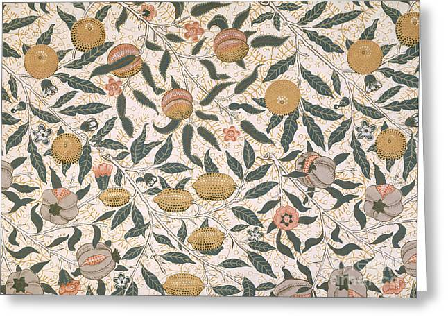 Patterned Greeting Cards - Pomegranate design for wallpaper Greeting Card by William Morris
