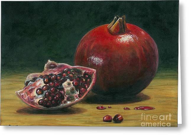 Italian Art Paintings Greeting Cards - Pomegranate Greeting Card by Italian Art
