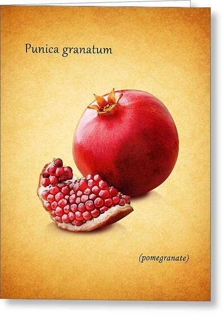 Citrus Leaf Greeting Cards - Pomegranate Greeting Card by Mark Rogan