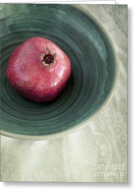 Grenadine Greeting Cards - Pomegranate Greeting Card by Priska Wettstein