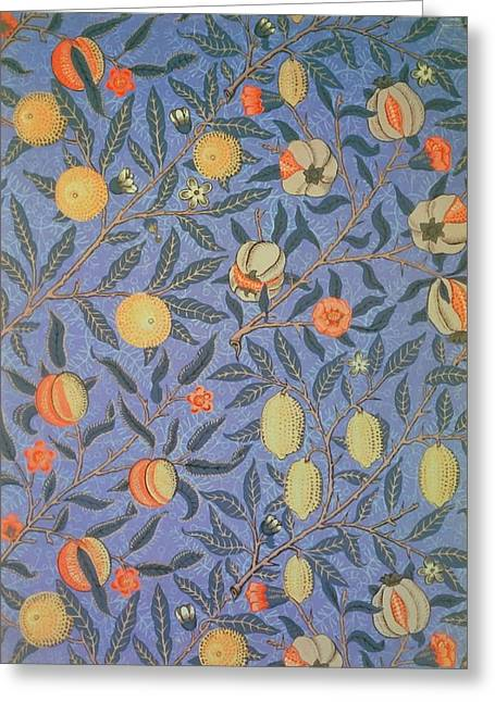 Mille Fleurs Greeting Cards - Pomegranate Greeting Card by William Morris