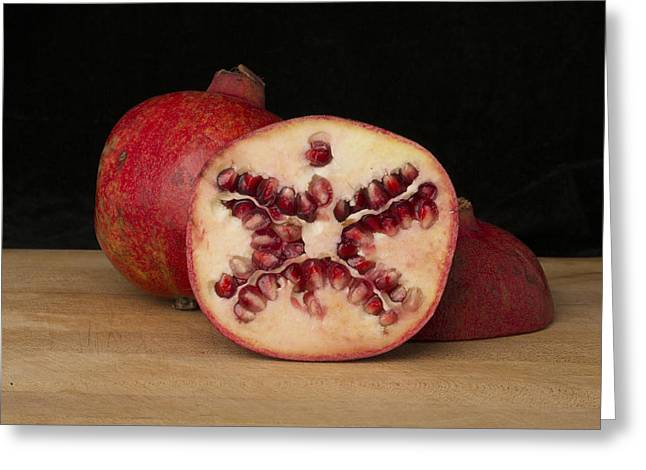Pomegranates 1 Greeting Card by Scott Campbell