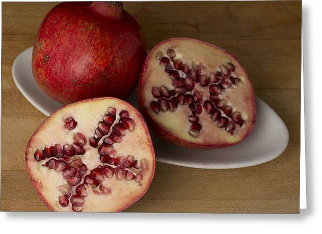Pomegranates 3 Greeting Card by Scott Campbell