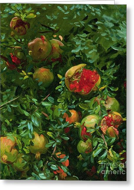 Singer Paintings Greeting Cards - Pomegranates    Majorca Greeting Card by John Singer Sargent