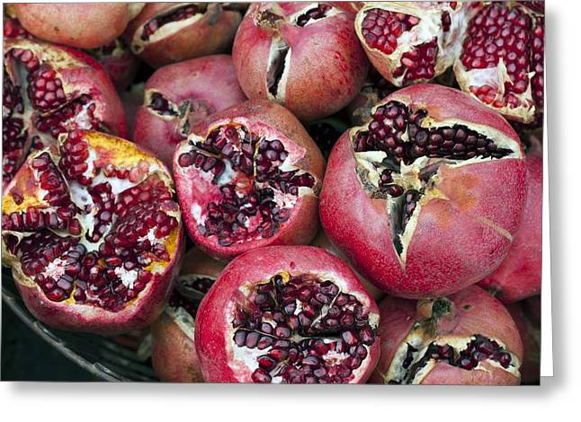 Punica Granatum Greeting Cards - Pomegranates Greeting Card by Science Photo Library