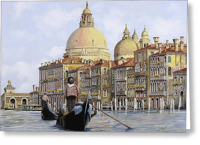 Dating Paintings Greeting Cards - Pomeriggio A Venezia Greeting Card by Guido Borelli