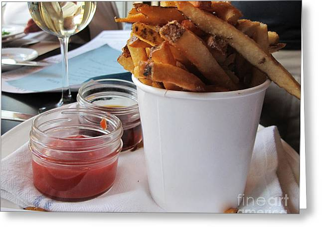 French Fries Greeting Cards - Pommes Frites Greeting Card by Arlene Carmel