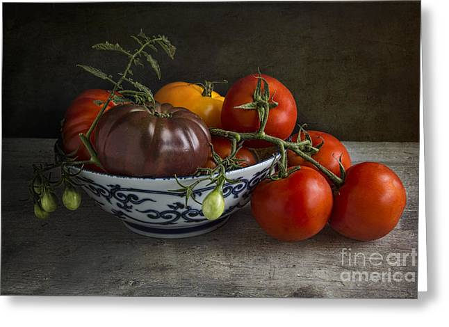 Tabletop Greeting Cards - Pomodori Greeting Card by Elena Nosyreva