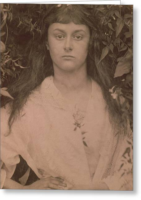 Photogrpah Greeting Cards - Pomona Greeting Card by Julia Margaret Cameron