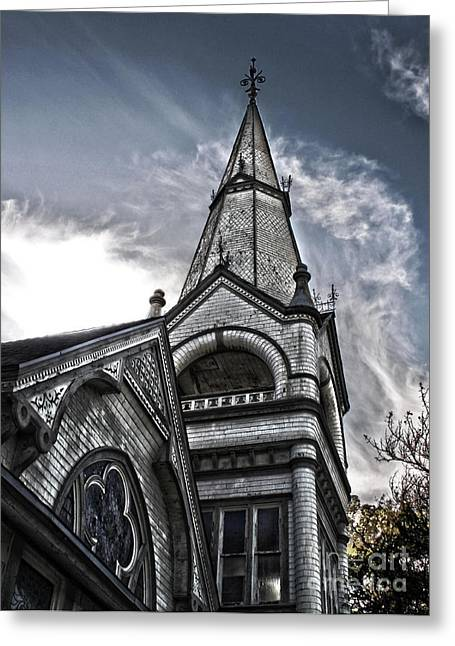 Pomona Art Walk Greeting Cards - Pomona Seventh Day Adventist Church Greeting Card by Gregory Dyer