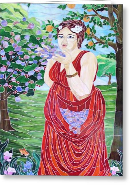 Fantasy Glass Greeting Cards - Pomona Greeting Card by Suzanne Tremblay